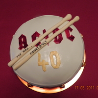 "Drum Cake My colegue from work celebrate his 40. birthday. I made a drum cake for him because his a ROCKER ""for ever""."