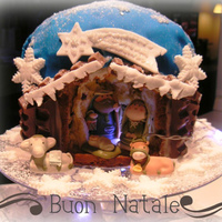 Nativity In A Cake With our traditional cake,called panettone, we prepare this new cake.