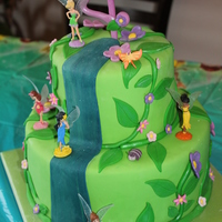 Tinkerbell My daughter's cake for her 4th birthday. Peaches and cream WASC with SMBC and MMF.