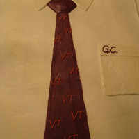 Shirt W/ Virginia Tech Tie shirt and tie done w/buttercream icing