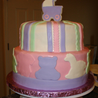 It's A Girl-Baby Shower Cake Carousel-Style Theme. All mmf.