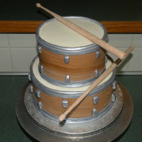 "Drum Cake  I donated this cake for a benefit concert/auction called ""Jammin' for Jet"" for a little 10 month old boy who has been..."