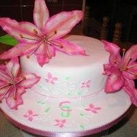 Stargazer Lillies This was a birthday cake for my Nan and she loved it! I made it in my 3rd term of cake decorating. The monogram is my favorite bit, I made...