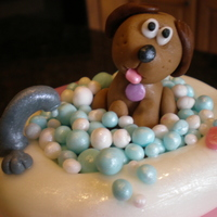 Puppy In A Bathtub Cake This was for our little friend's spa birthday party, but she requested a puppy in a bathtub...so fun to make for her!