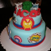 Super Hero Cake For a Marvel Hero Super Squad Boy!