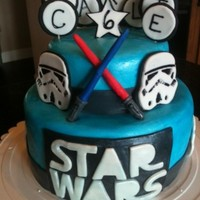Star Wars/storm Trooper Cake