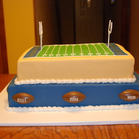 Tu Football Tailgate Party   Football cake for my daughters company tailgate party before the big game.