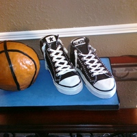 Converse All-Stars This was a 'Chuck Taylors' and basketball cake I made this past April for my dad's big 56th surprise birthday.