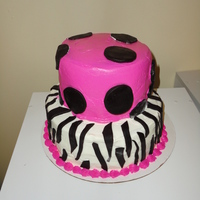Pink Zebra This is the first time i have really worked with fondant, and stacking cakes.