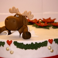 The Moose A surprise birthday cake for my boyfriend. He loved the moose it is clearly surprised to see the birthday boy and the guests as it breaks...