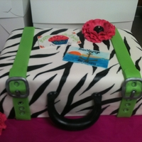 Suitcase My solution for a Birthday / Bon Voyage party for 2 different people. TFL!
