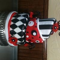 Black/white/red Birthday Designed for a client whose only request was to use red, white, and black....TFL!