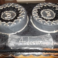 Speaker Box Cake This is custom cut cake to look like the speaker box the groom builds...their initials are on the speakers as well as their new last name...