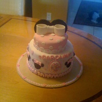 Girly Minnie Cake