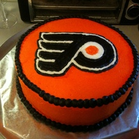Philadelphia Flyers Hockey Cake Flyers cake made for the 2010 Stanley Cup playoff party; decorated entirely with butter-cream frosting