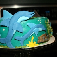 Tropical Fish Birthday Cake