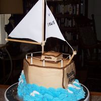 Sailboat   everything buttercream, except the sail!