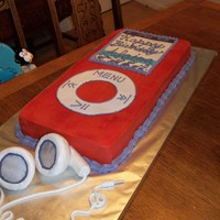 Ipod Birthday Cake This is a chocolate cake with buttercream. They didn't want the entire cake covered in fondant since it was a little girl's...