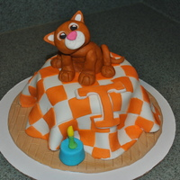 Tennessee Gizmo Cake This cake was a special request by a friend who was a huge fan of Tennessee Football and loved their family cat, Gizmo. I think it was a...