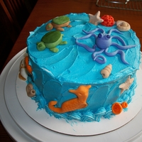 Sea Critters Made this just for fun and to practice making fondant/gumpaste animals. My 2 year old nephew decided it was for his birthday and enjoyed...