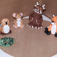 The Gruffalo Cake Toppers   I had been asked to make the gruffalo characters and this is how we got on im superchuffed with them
