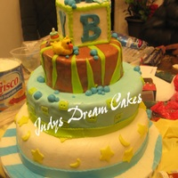 My 1St Dominican Fondant 3 Tier Cake For Baby Shower Dominican CakeFilling: Dulce De LecheCovered with Suspiro( Domiican Merengue) MM Fondant Decorations: All made free hand with Gum Paste P.S...