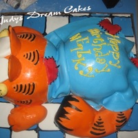 Garfield Birthday Cake This is a birthday cake I made for a customer. 13th Birthday .Dominican CakeFilling Dulce de LecheSuspiro (Meringue)covered with...