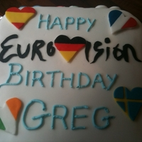 Eurovision Cake A birthday cake I made for a Eurovision fan