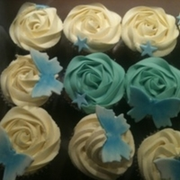 Christening Cupcakes For my Godson's christening