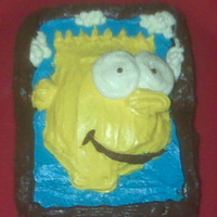 Mini Bart Simpson Cake   Portrait of Bart SimpsonMini Cake2x4 Inches