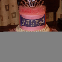Pink And Purple Princess Cake W/ Tiara pink and purple princess cake w/ tiara