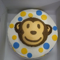 Monkey Cake monkey cake with smaller smash monkey for baby