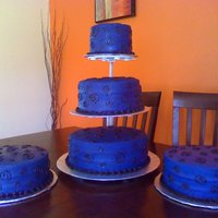 Blue N Black Birthday Cake