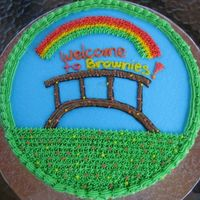 Daisy Girl Scouts Bridging To Brownie Girl Scouts My daughter and her Troop will be Bridging from Daisies to Brownies Tomorrow (06-11-06). Made the cake for their celebration. It's a...