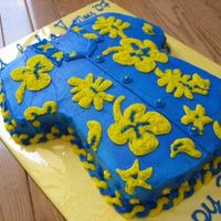 "Happy Teacher Appreciation Week! May 2007 Made this cake for our PTA's Teacher Appreciation Luncheon. Used the Wilton T-Shirt Cake Pan. The theme was ""Going to a Luau&quot..."