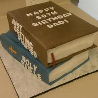 50Th Birthday This was a cake I did for my friend's dad. My first attempt at books. I hope you like it.