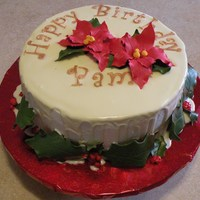 Christmas Themed Birthday Cake