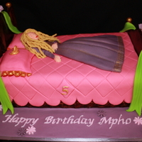 Sleeping Beauty/princess Aurora A Sleeping Beauty themed cake. The cake was a vanilla pound cake with white chocolate buttercream frosting. The design was based on Debbie...