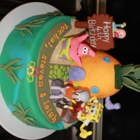 Spongebob And Friends This cake was made for triplets who are good friends of my twins. The cake is a vanilla pound cake and the characters are all made of...