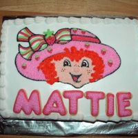 Strawberry Shortcake   After I took the picture, I realized I didn't write Happy Birthday, so I wrote it on there!!