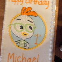 Chicken Little I made cookies to match also...the mom loved this cake and the cookies!