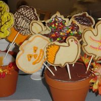 First Cookie Bouquet  My daughter I signed up for a cookie bouquet class with my Wilton instructor after my cake classes. We had fun. I know now what to do to...