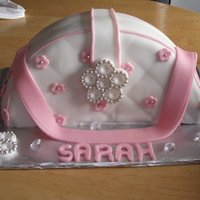 Handbag Cake I actually made this cake by accident, I had planned on a 2 tier cake with a pink bow/broach but the top tier broke so i decided to make...