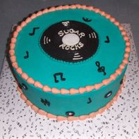 "Sugar Rocks   This is my cake that I entered in the WSSA Show this April, it is a10"" dummy cake, all butter cream, record is chocolate"