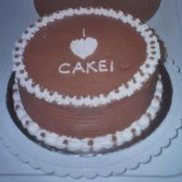 I Heart Cake This is a practice cake. I got the saying from my sons favorite movie Napoleon Dynamite. It is a 9 yellow cake with chocolate and vanilla...