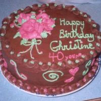 Birthday Cake  This is my 40th birthday cake. I got some inspiration from Lazy_Susan on the colors. At first I was just going to do the roses then I said...