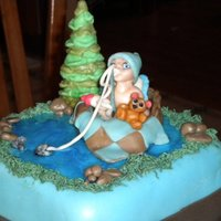 Gone Fishing   made this for my daughter's baby shower hand sculpted everything out of fondant was a big hit. My first tier cake