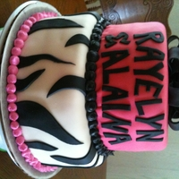 13Th Birthday Zebra Cake