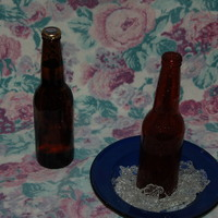Candy Beer Bottle From A Homemade Mold With Candy Ice this is the first of many I need to make for a grooms cake