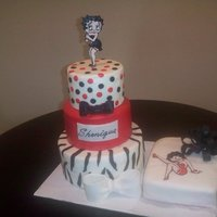 Betty Boop   Betty Boop cake for a friend's birthday. Yellow and Red Velvet cake, vanilla BC with MMF